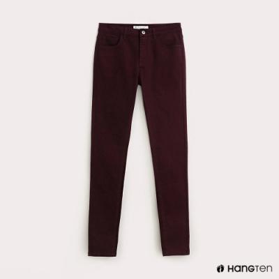 Hang-Ten-女裝-SUPER SKINNY FIT超緊身長褲-酒紅色