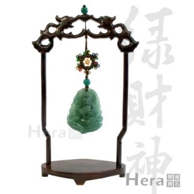 Hera 赫拉 藏傳好運綠財神迎財擺件
