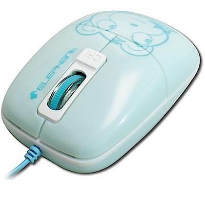 ELEPHANT可愛小熊造型 GR藍光雷射滑鼠 (WEM1020BL) 粉藍色