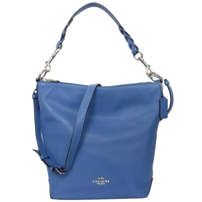 COACH ABBY DUFFLE天空藍全皮肩背/斜背大款水桶包