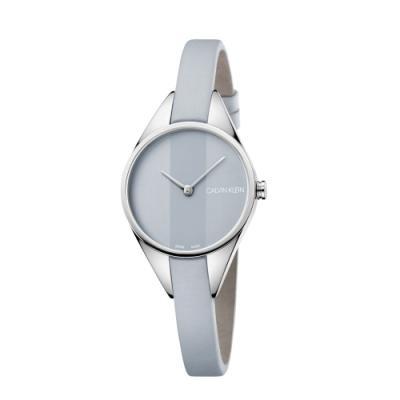 Calvin Klein CK Rebel極簡設計質感皮帶腕錶(K8P231Q4)29mm
