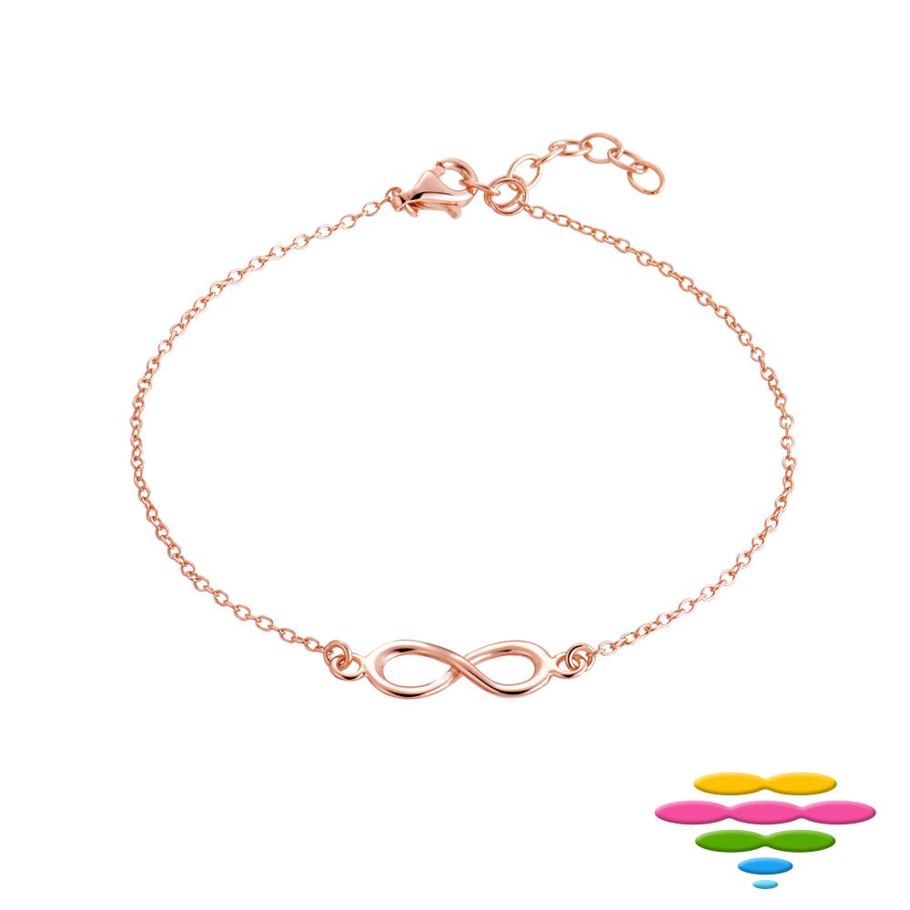 彩糖鑽工坊 愛無限符號手鍊 銀鍍玫瑰金手鍊 桃樂絲 Doris系列 product image 1
