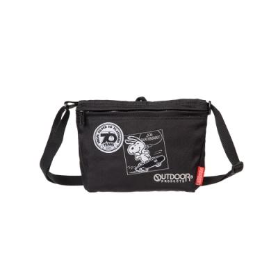 【OUTDOOR】SNOOPY聯名款70週年側背包-黑色 ODP19C04BK