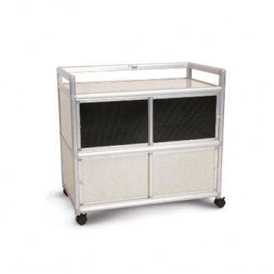 Cabini小飛象-白布面3.0尺鋁合金紗門收納櫃88.5x50.8x83.6cm