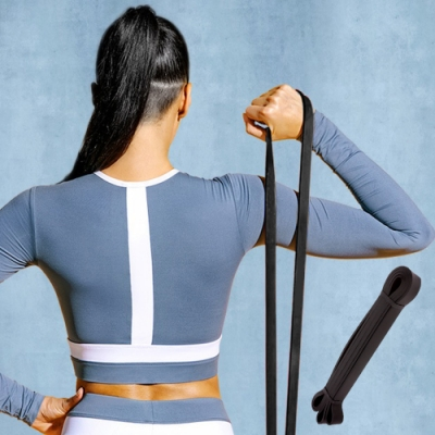 E.dot 瑜珈健身輔助拉力帶伸展帶-65磅