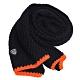 EMPORIO ARMANI EA7品牌LOGO盾牌圖騰義大利製造型圍巾(黑色系) product thumbnail 1