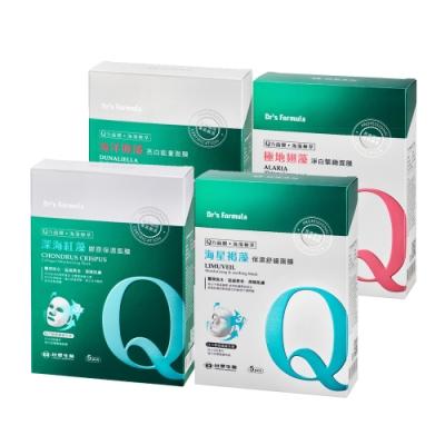 台塑生醫Dr's FormulaQ力海藻面膜(5片裝)*4盒入