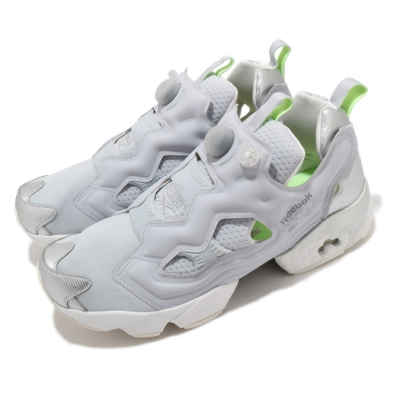 Reebok 休閒鞋 Instapump Fury OG 男女鞋 經典 充氣科技 襪套 舒適 避震 情侶款 灰 銀 FV1579