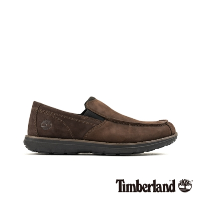 Timberland 男款深棕色磨砂革休閒鞋|A17YV