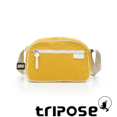 tripose PIPE系列滾邊梯型斜背包 黃
