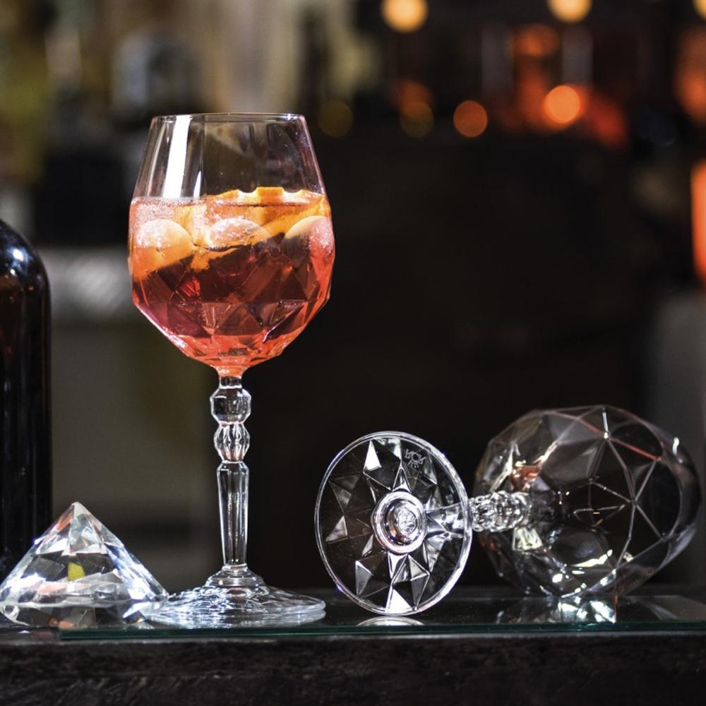 義大利RCR愛蜜絲無鉛水晶杯紅白酒杯530ml-6入