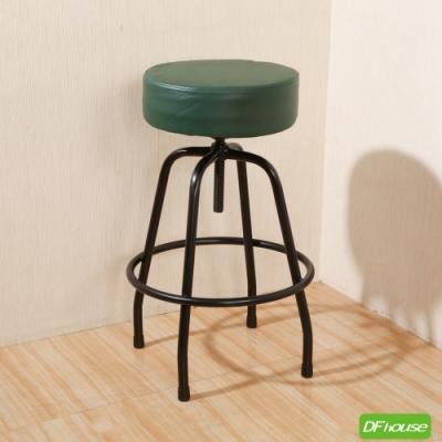 《DFhouse》麥肯基-泡棉旋轉吧椅-綠色 寬44*深44* 高67-80