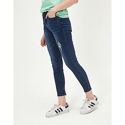 CACO-經典破壞刷色牛仔長褲(兩色)-女【TAR025】