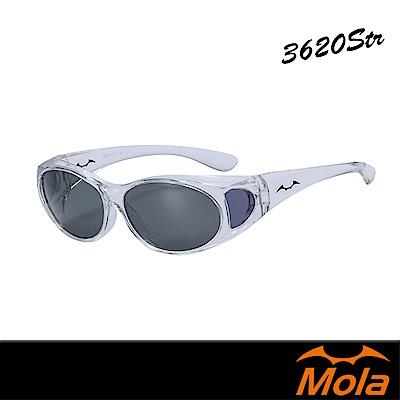 MOLA包覆式摩拉偏光太陽眼鏡/套鏡/墨鏡  小臉 近視可戴-3620Str