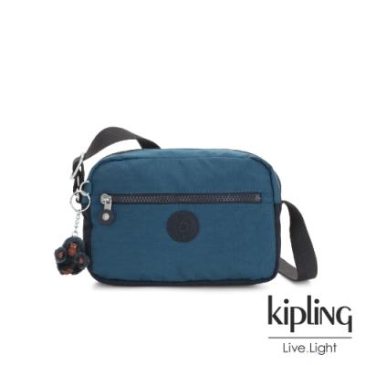 Kipling 復古土耳其藍簡約斜背方包-ROBIN