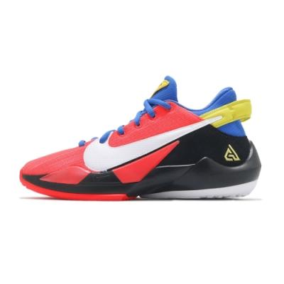 NIKE 籃球鞋 避震 包覆 明星款 字母哥 運動鞋 大童 女鞋 紅 CN8574-606 Freak 2 GS