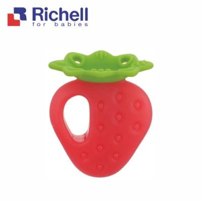 【Richell 利其爾】咬咬固齒器_草莓_附盒(日本牙醫師推薦使用)