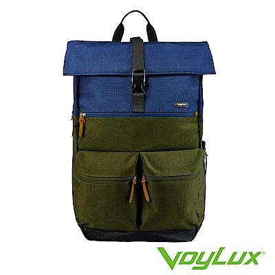 VoyLux伯勒仕-VENTURE系列雙口袋配色後背包軍綠-3381513