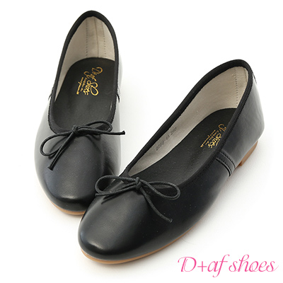 D+AF 氣質好感.經典平底芭蕾娃娃鞋*黑