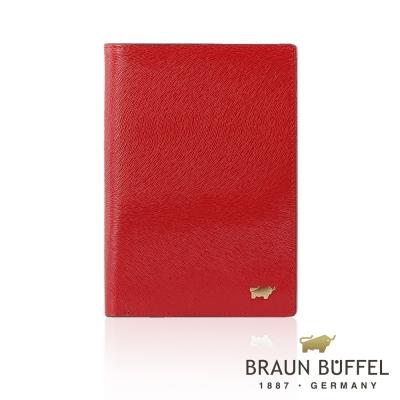BRAUN BUFFEL - 奧菲莉亞P系列3卡護照夾 - 胭紅