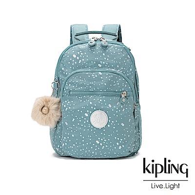 Kipling潑墨感銀空藍後背包-CLAS SEOUL S