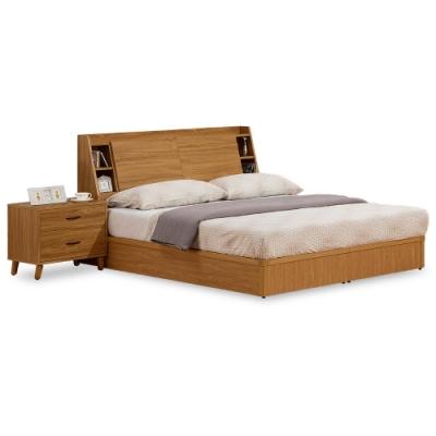 時尚屋  柏得溫柚木床箱型5尺雙人床(不含床頭櫃-床墊)-免組裝