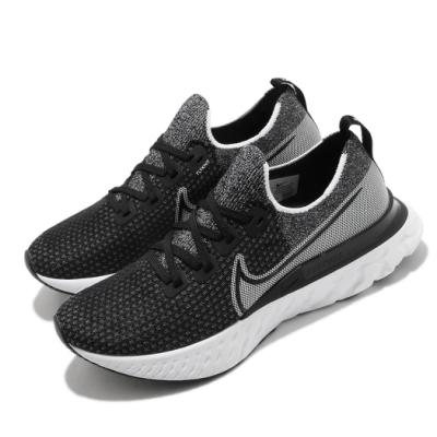 Nike 慢跑鞋 React Infinity Run 男鞋 襪套 輕量 透氣 舒適 避震 路跑 健身 黑 白 CD4371012