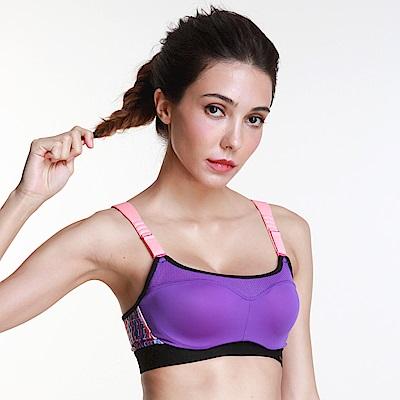 黛安芬-triaction高效動能運動內衣 D-E罩杯 琉璃紫