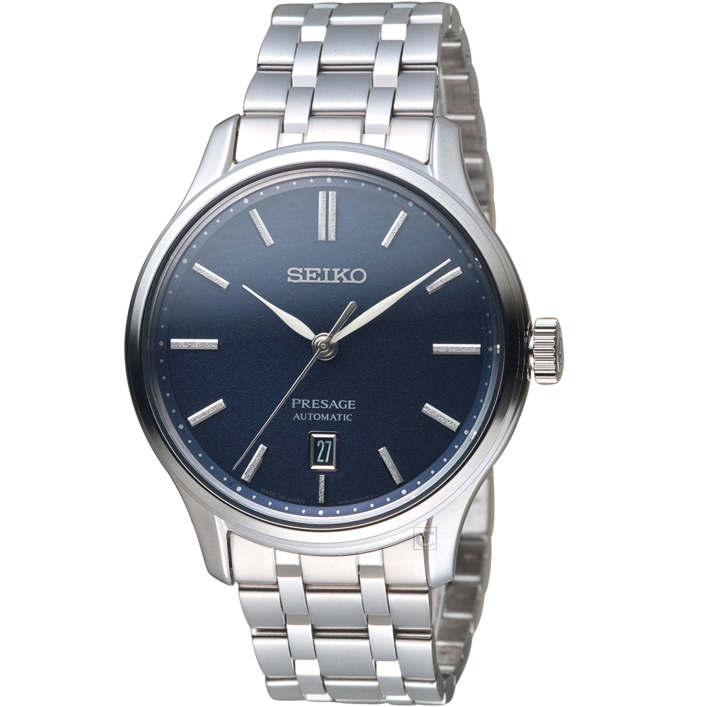 SEIKO精工Presage經典卓越機械錶(SRPD41J1)-藍