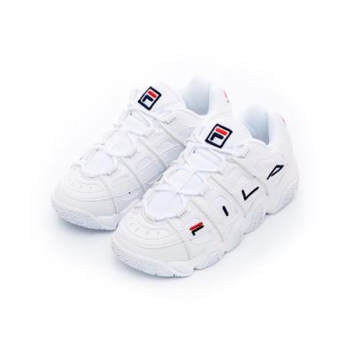 FILA BARRICADE中性復古運動鞋-白 4-B507T-111