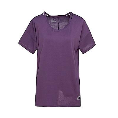 FILA 女款涼感短袖T恤-紫色 5TET-1604-PL
