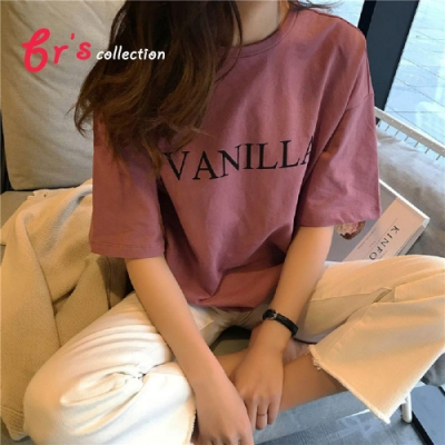 【brs】VANILLA落肩短袖上衣 -3色