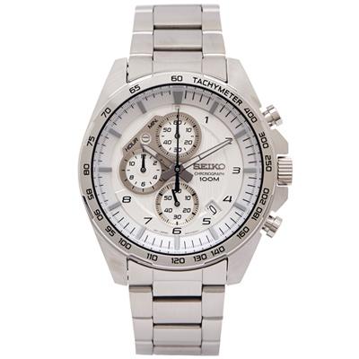 SEIKO 疾風競速計時手錶(SSB317P1)-銀白面/44mm