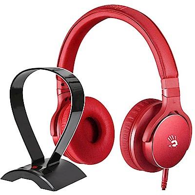 A4 Bloody M510 魔磁雙震膜高音質音樂耳機 (紅)