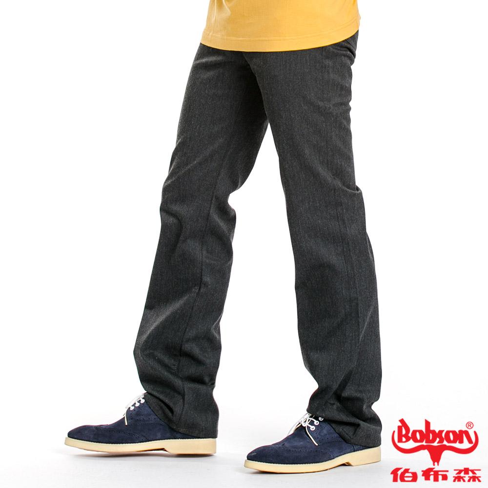 BOBSON 男款混紡毛料直筒褲(深灰87)