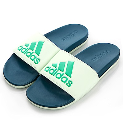 ADIDAS ADILETTE COMFORT 男女拖鞋 CG3429 綠藍