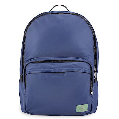 Calvin Klein 經典尼龍LOGO後背包-深藍色