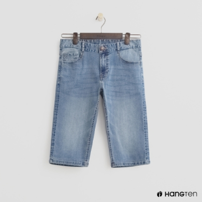 Hang Ten- 青少童裝-牛仔休閒短褲-藍