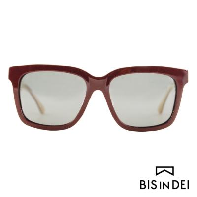 BIS IN DEI 撞色大方框太陽眼鏡-紅