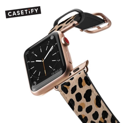 Casetify Apple Watch 38/40mm 時尚錶帶-豹紋