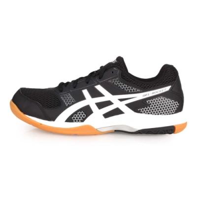 ASICS GEL-ROCKET 8 男排羽球鞋-排球 訓練 羽球 黑黑白