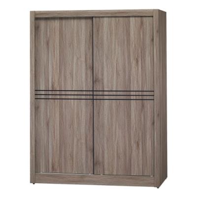 綠活居 菲迪4尺推門衣櫃(吊衣桿+單抽屜+內開放層格)-120x60x203cm免組