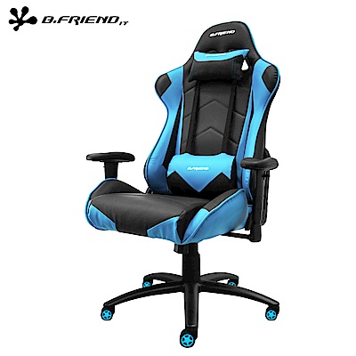 B.Friend GC04電競椅 (藍)+ V110 炫彩背光電競鍵盤滑鼠組(白)