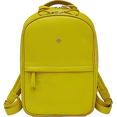 OBBI LAI 黃色荔枝紋牛皮後背包-M