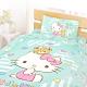 享夢城堡 單人床包涼被三件組-HELLO KITTY 糖果熊-粉.綠 product thumbnail 1