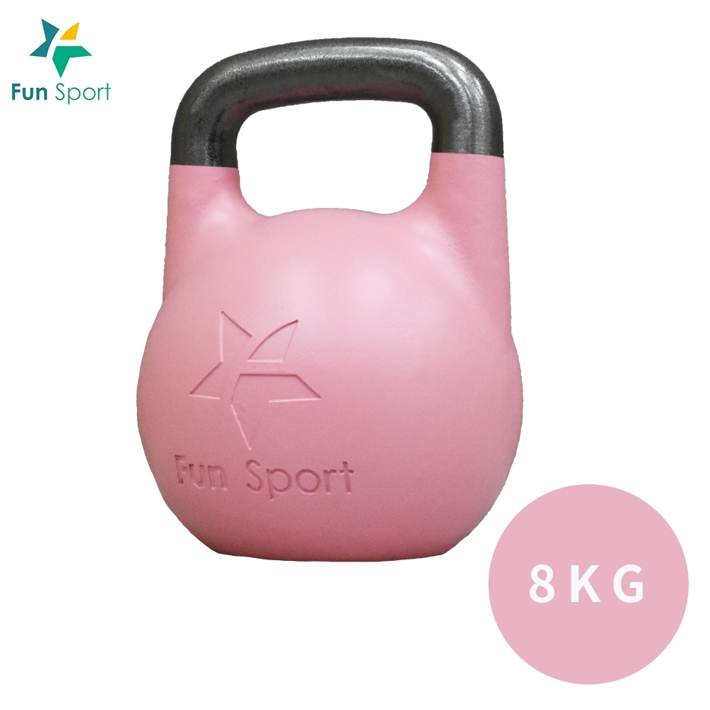 Fun Sport-競技壺鈴 kettlebell-8kg(粉)