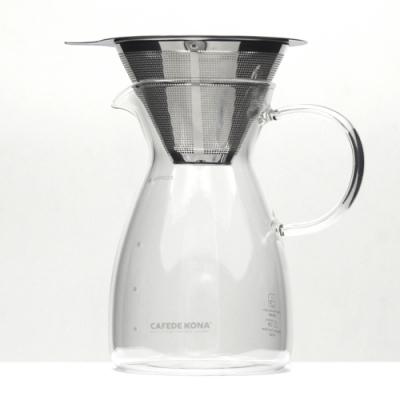 CAFEDE KONA 雙層不鏽鋼濾網02+咖啡分享壺