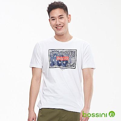 bossini男裝-印花短袖T恤16白