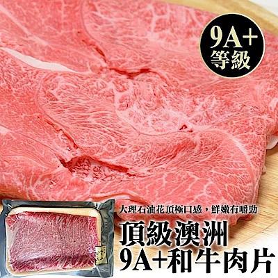 (滿699免運)【海陸管家】澳洲M9+等級和牛肉片(每包約200g) x1包