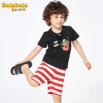 Balabala巴拉巴拉-YUMMY麵條印花圖案造型套裝-男(2色)